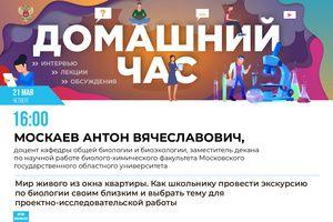 Проектно-исследовательские работы школьников обсудят в эфире онлайн-марафона «Домашний час» Минпросвещения России