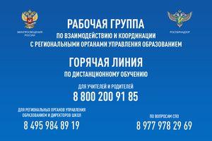 Горячие линии Минпросвещения России круглосуточно принимают вопросы по организации дистанционного обучения