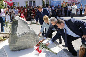 В Крыму открыли мемориал в память о детях, погибших во время Великой Отечественной войны